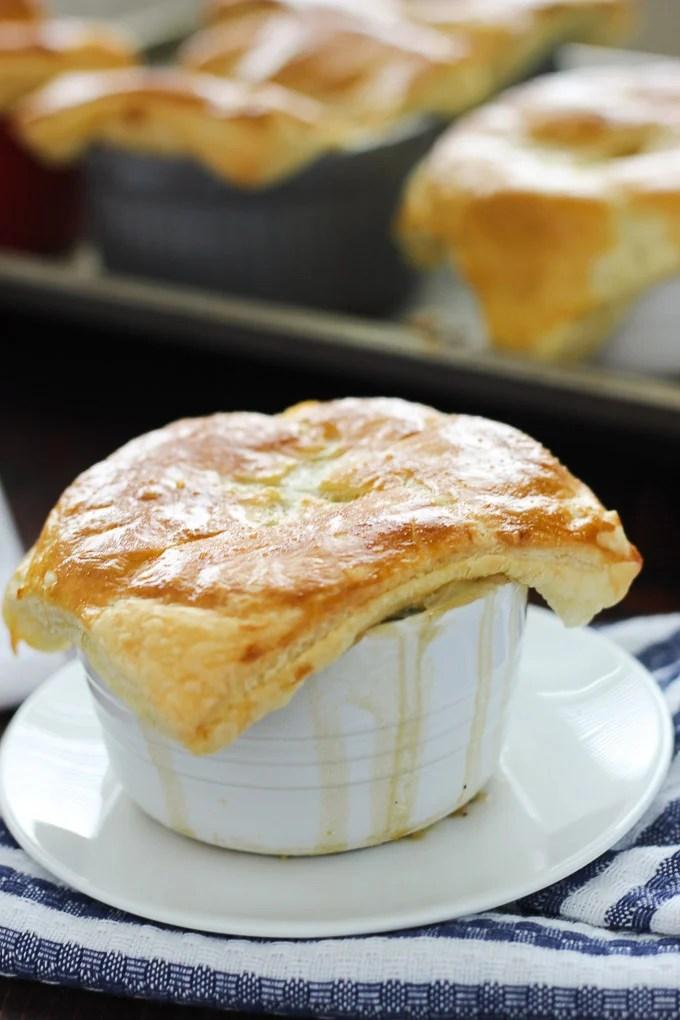 Individual Vegetarian Pot Pies // forkinthekitchen.com