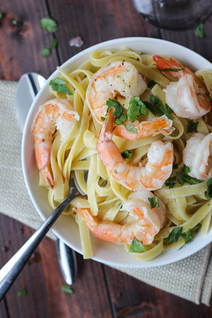 Shrimp Scampi for Two // Fork in the Kitchen