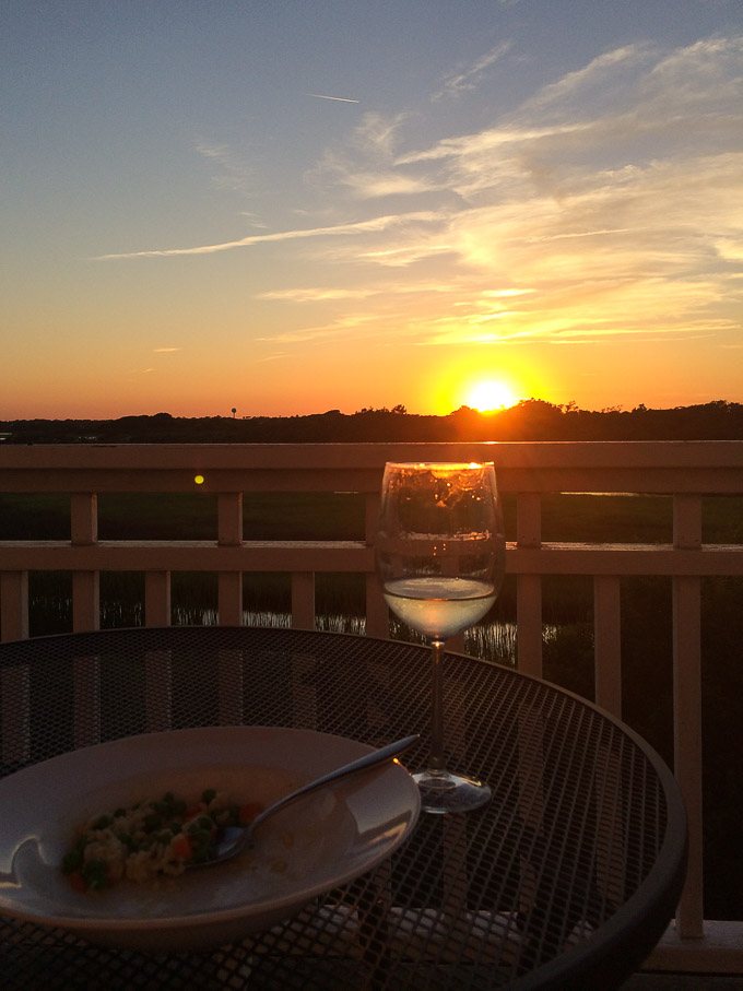 June Sunset in NC w/ wine // Fork in the Kitchen