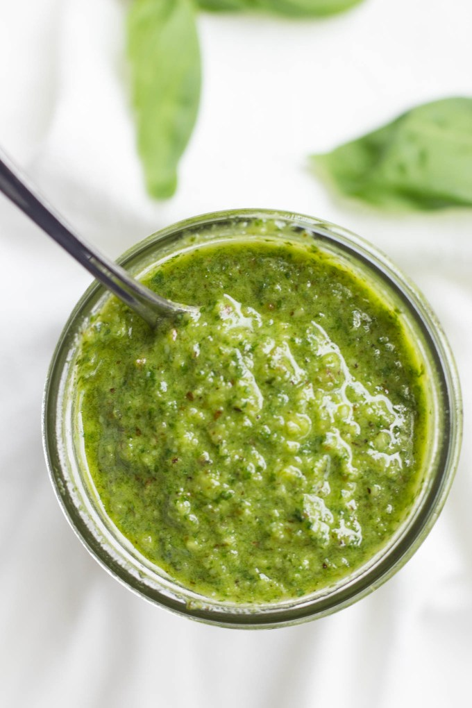 Basil Mint Pesto // Fork in the Kitchen