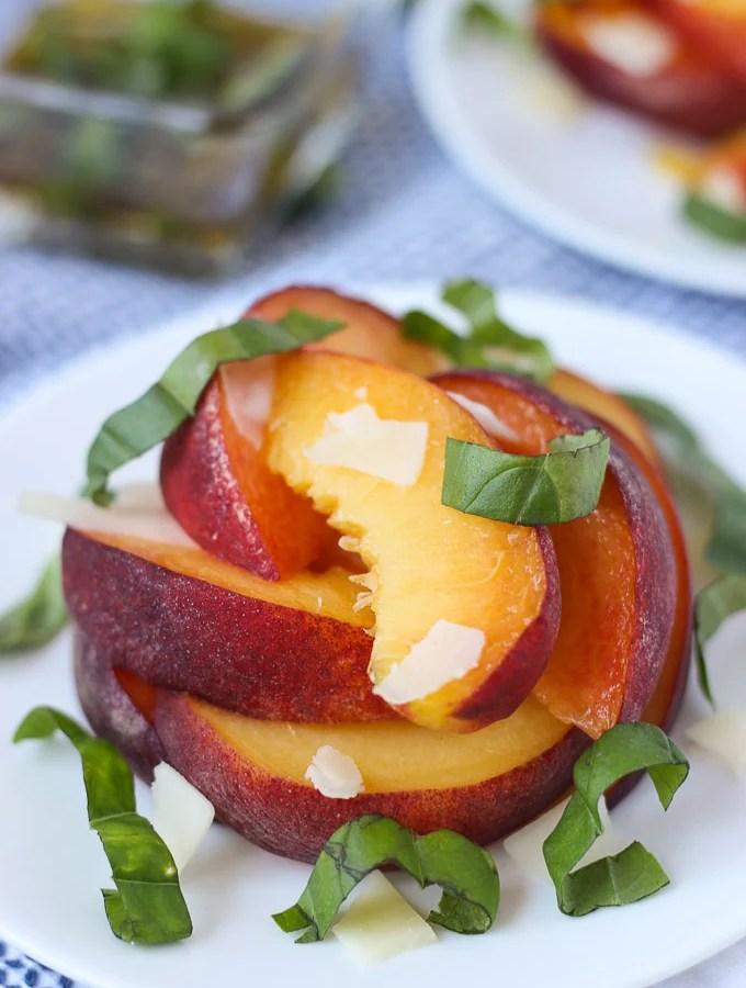 Peach Basil Salad // Fork in the Kitchen