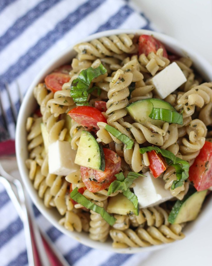 Summer Veggie Pesto Pasta Salad // Fork in the Kitchen