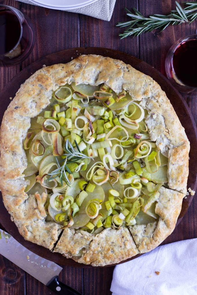 Potato, Leek, and Rosemary Galette with Pistachio Crust // Fork in the Kitchen