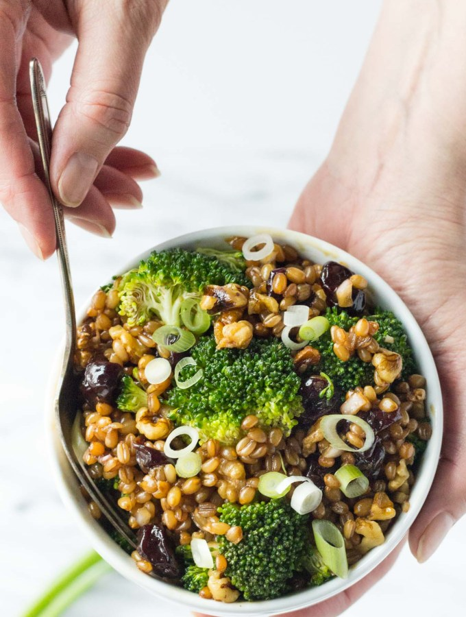 Winter Wheat Berry Salad // Fork in the Kitchen