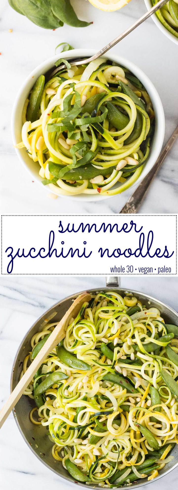 Summer Zucchini Noodles - a refreshing and healthy recipe that's perfect as a side or meal! // Fork in the Kitchen
