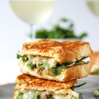 Apricot Brie Grilled Cheese on Challah