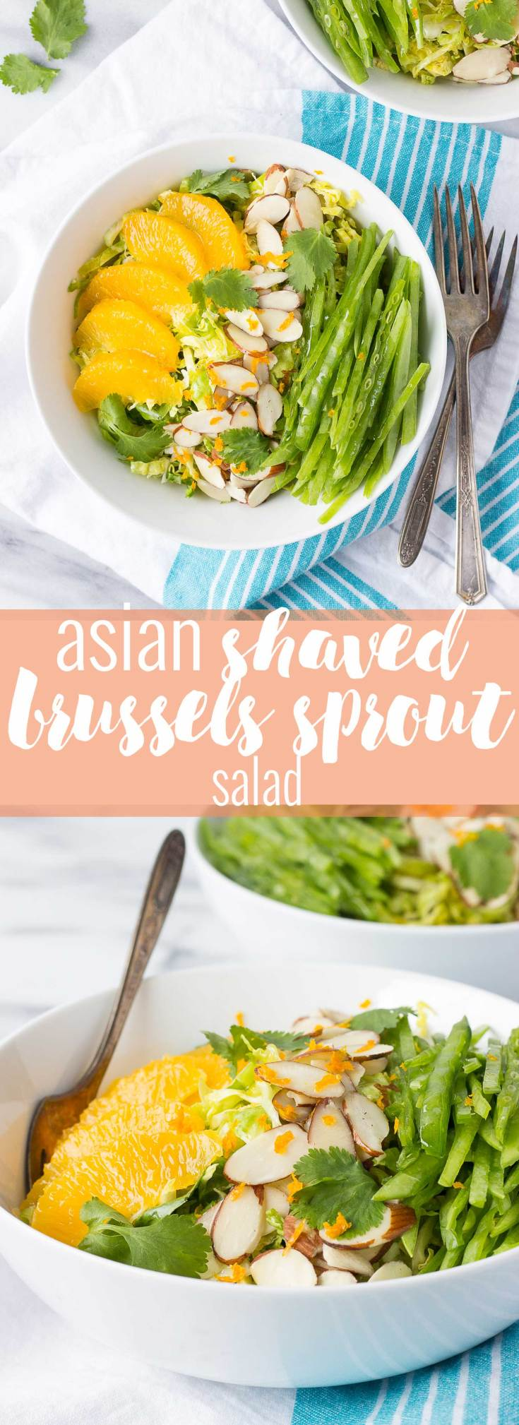 Asian Shaved Brussels Sprout Salad // Fork in the Kitchen