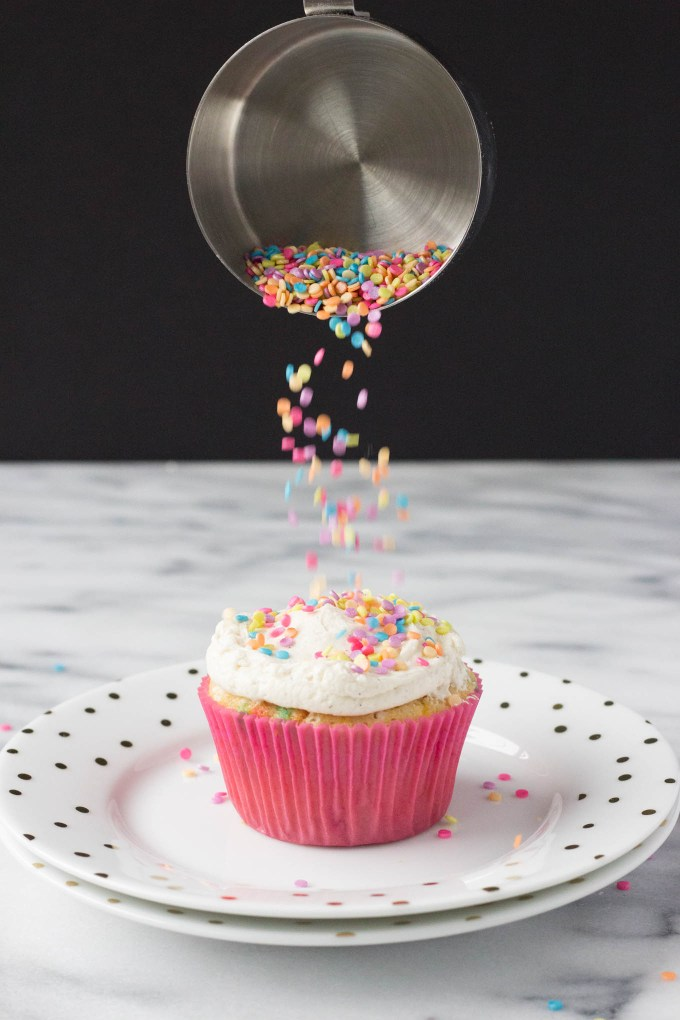 Funfetti Vanilla Cupcakes // Fork in the Kitchen