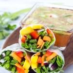 Mango Salsa Spring Rolls // Fork in the Kitchen