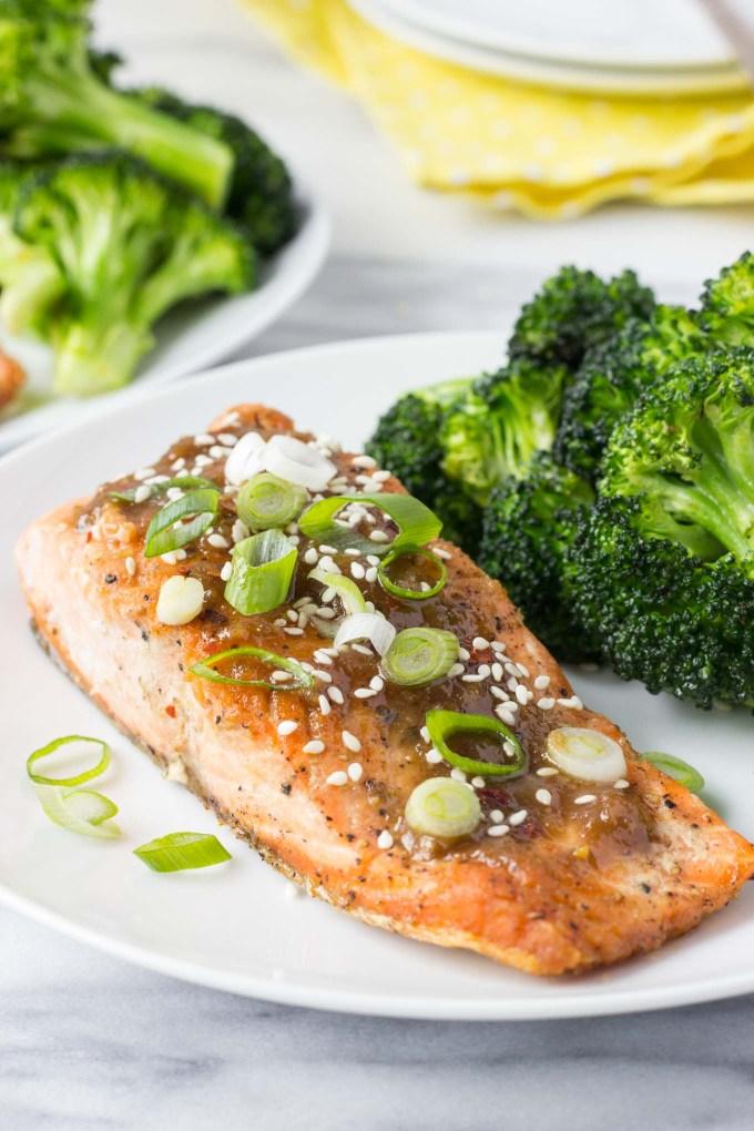 Miso Ginger Glazed Salmon | Fork in the Kitchen