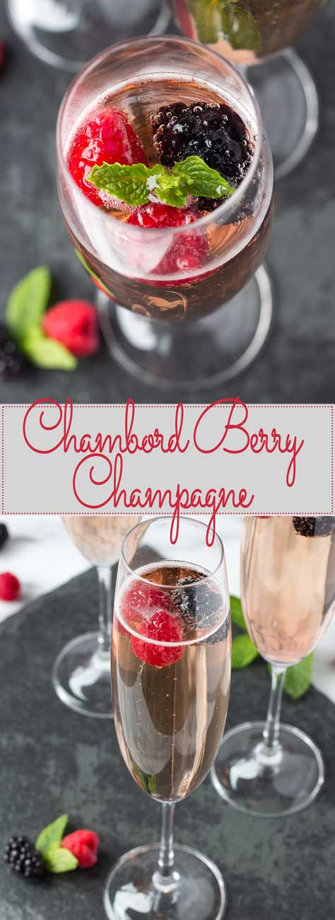 Chambord Berry Champagne - A light Champagne cocktail that leave you feeling extra special and jazz up brunch, bridal showers, and Mother's Day celebrations alike!