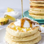 Pineapple Coconut Pancakes | Fork in the Kitchen