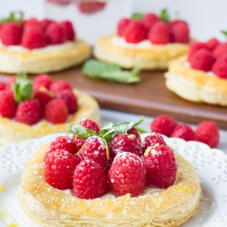 Raspberry Lemon Mascarpone Pastries