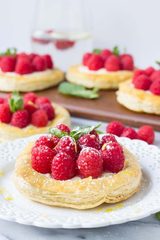Raspberry Lemon Mascarpone Pastries | Fork in the Kitchen