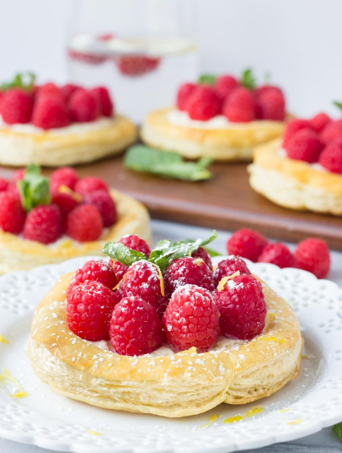 Raspberry Lemon Mascarpone Pastries