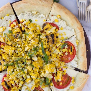 Charred Corn Pizza with Roasted Tomatoes