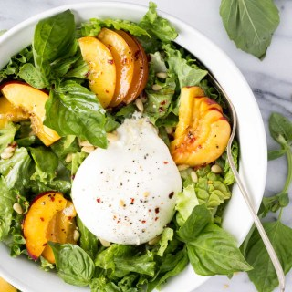 Nectarine Burrata Basil Salad