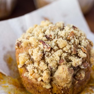 Pumpkin Spice Muffins with Pecan Crumble