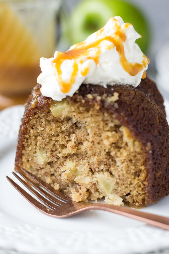 Salted Caramel Apple Cake | Fork in the Kitchen