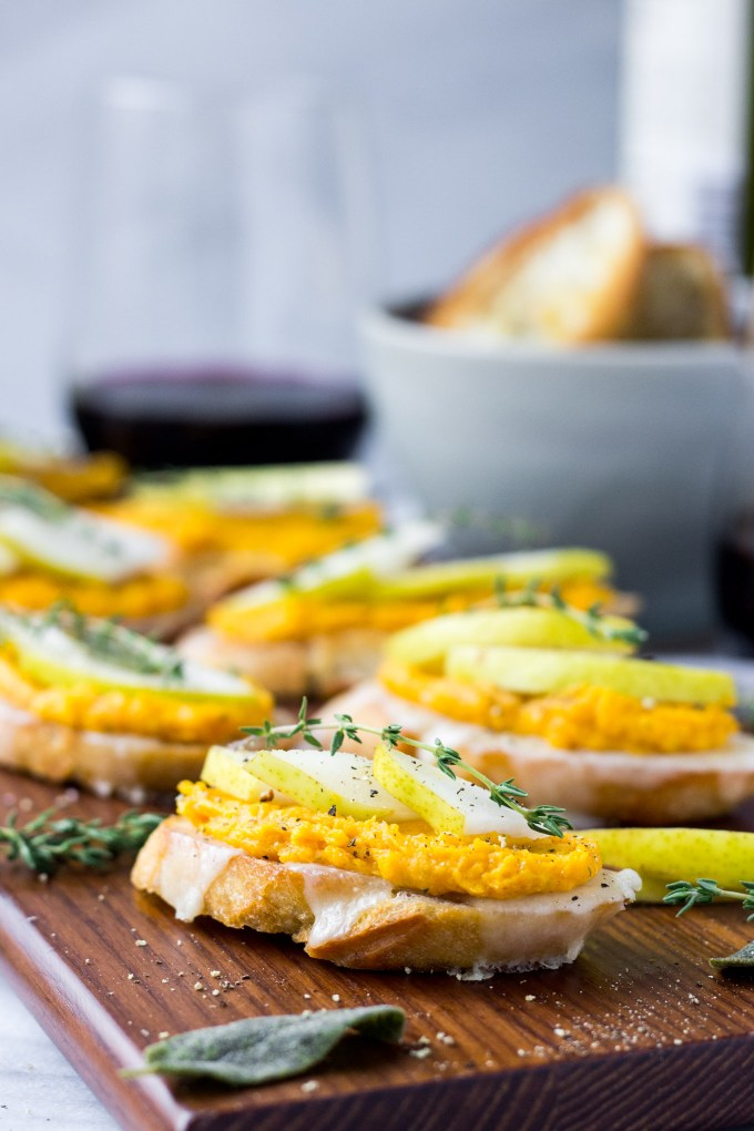 Butternut Squash and Pear Crostini | Fork in the Kitchen