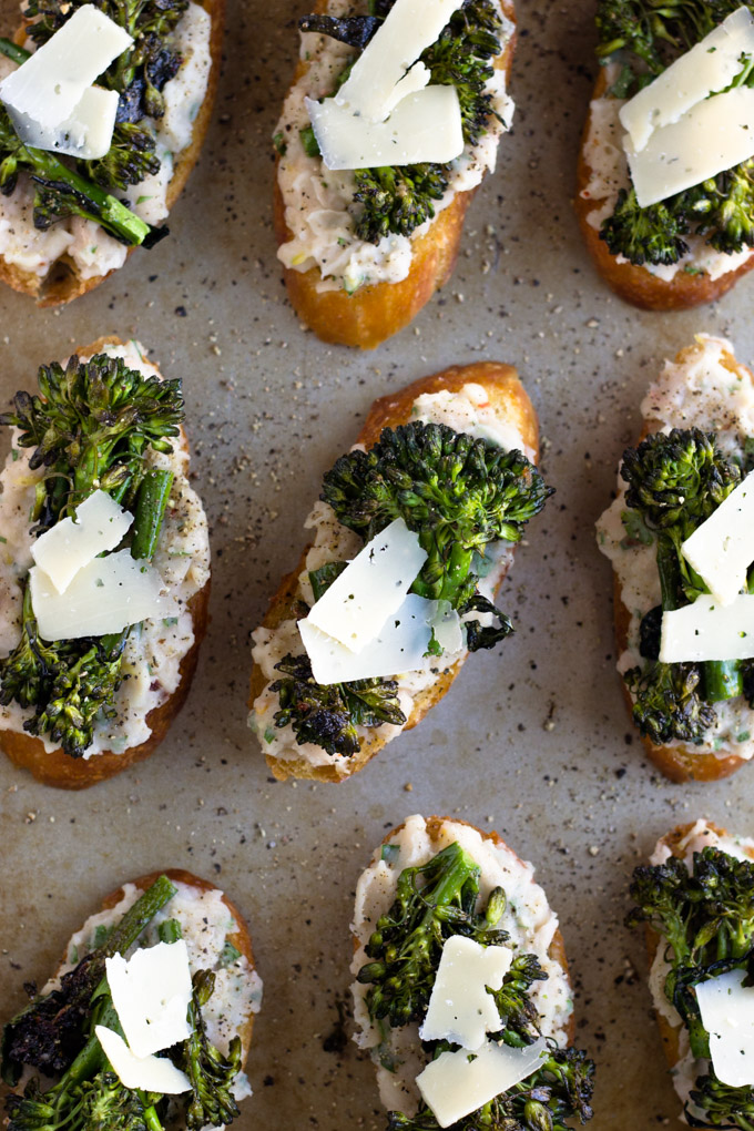 Broccolini and White Bean Crostini | Fork in the Kitchen