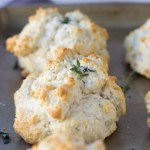 Thyme Parmesan Drop Biscuits | Fork in the Kitchen