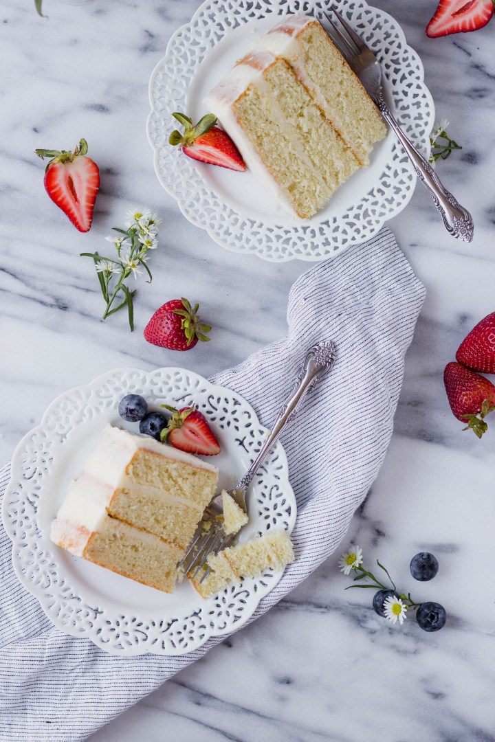 Sugar Cookie Cake with Vanilla Bean Frosting | Fork in the Kitchen