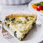 Kale, Shallot, Goat Cheese Quiche - a simple, elegant quiche, perfect for brunch! | Fork in the Kitchen #recipe #brunch #easyrecipe