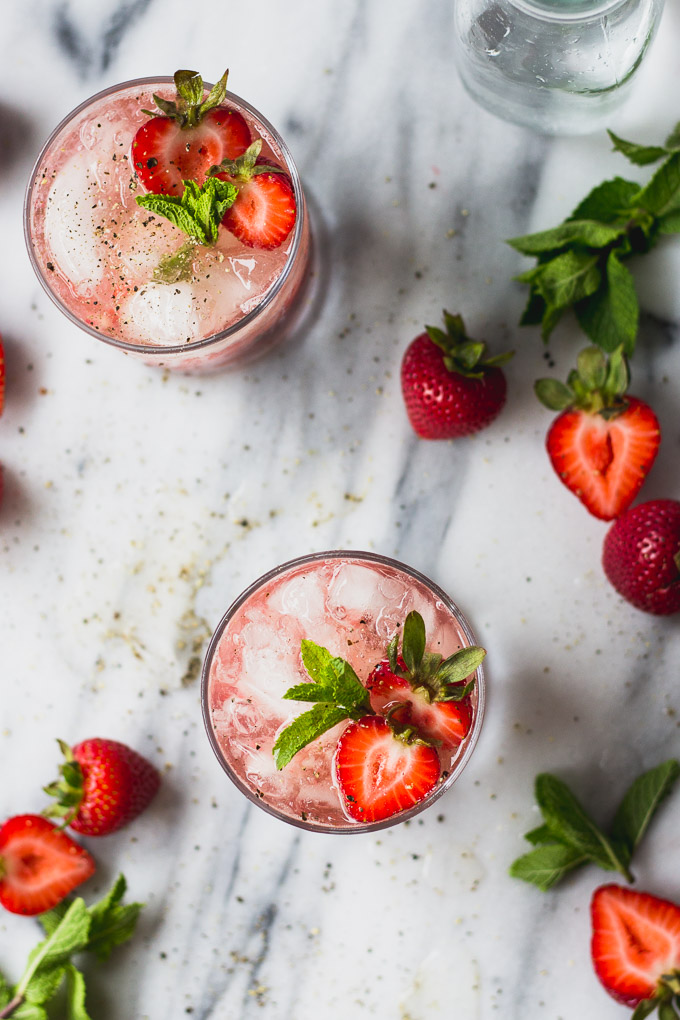Strawberry Black Pepper Smash | Fork in the Kitchen