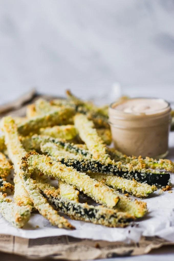 Crispy Zucchini Fries with Lemon Chili Aioli | Fork in the Kitchen
