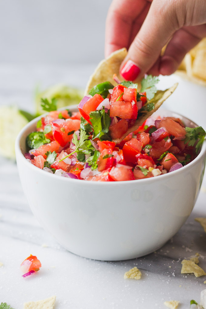 Simple Pico De Gallo | Fork in the Kitchen