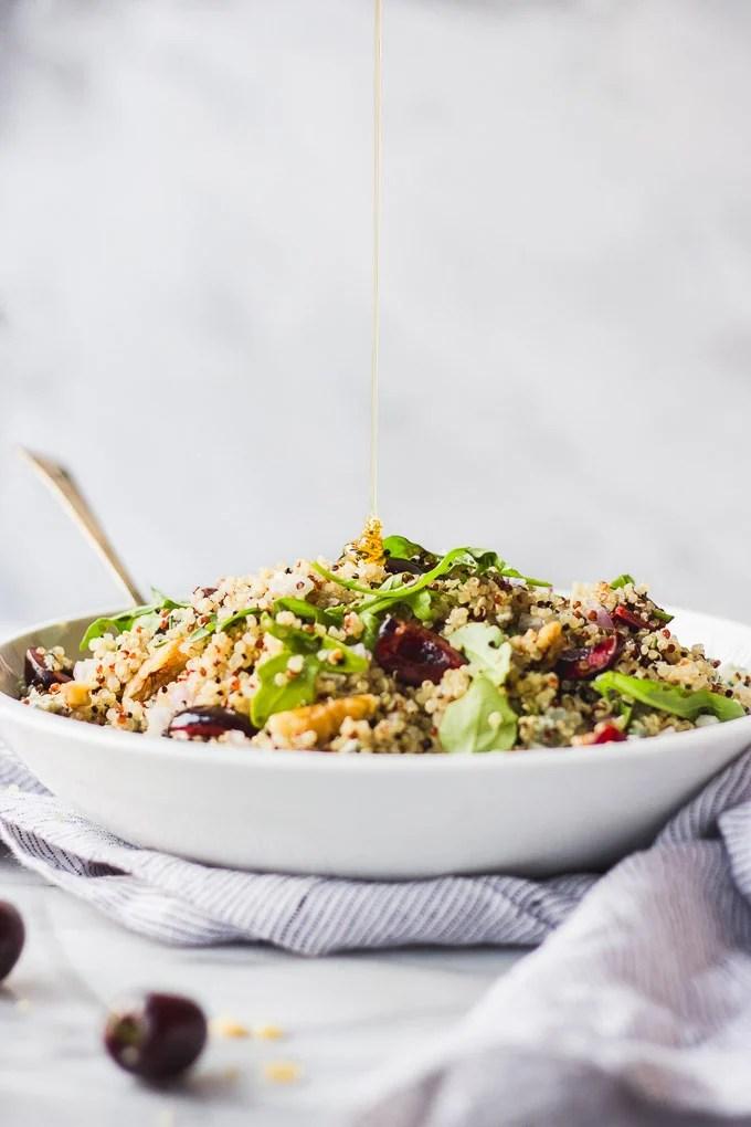 Quick Cherry Quinoa Salad | Fork in the Kitchen