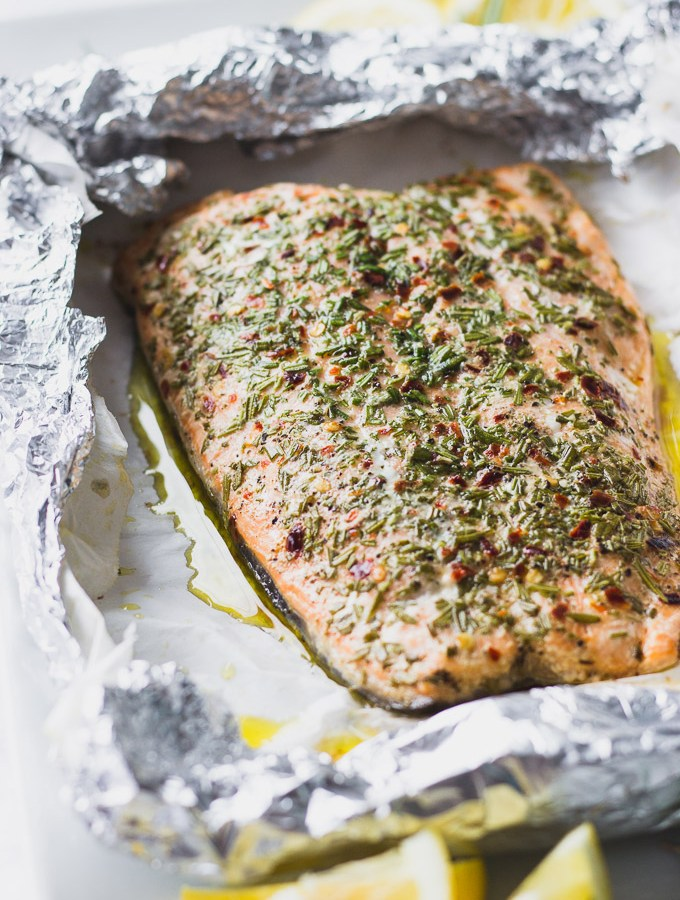 Rosemary Salmon Foil Packet