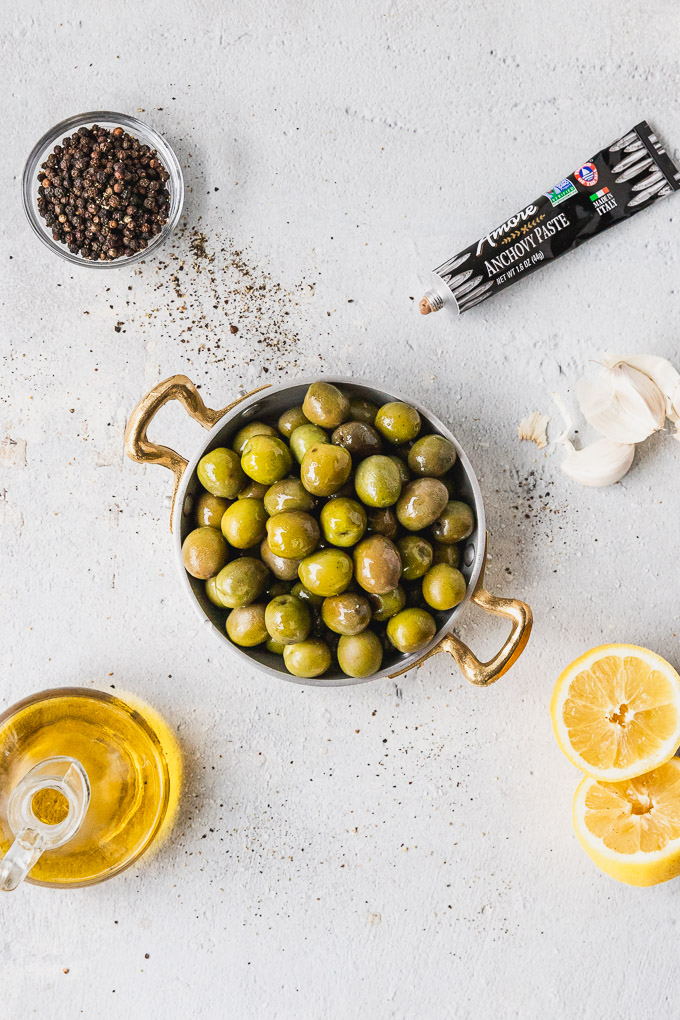green olive tapenade ingredients for recipe