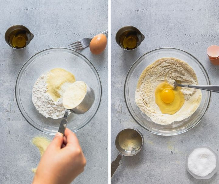 how to make homemade pasta step one and two