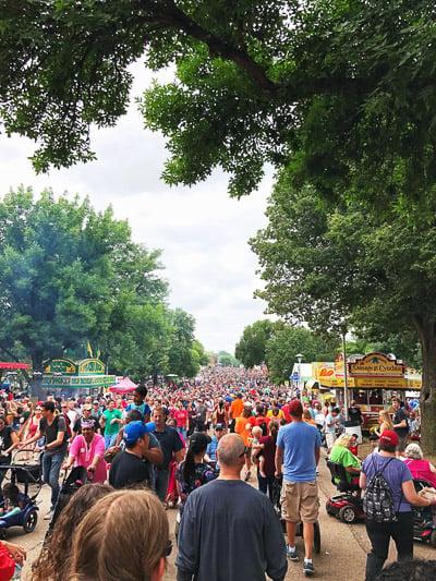 crowd at mn state fair