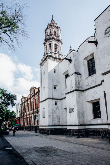 A cathedral in Mexico City.