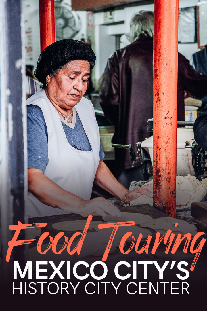 Hands down the BEST Mexico City food tour! From fried crickets and worms to edible roses, this epic food tour through the historic center of Cuidad de Mexico and Mercado de San Juan cannot be missed. #mexicocity #mexico #foodtour #travel #foodtravel #mexicanfood