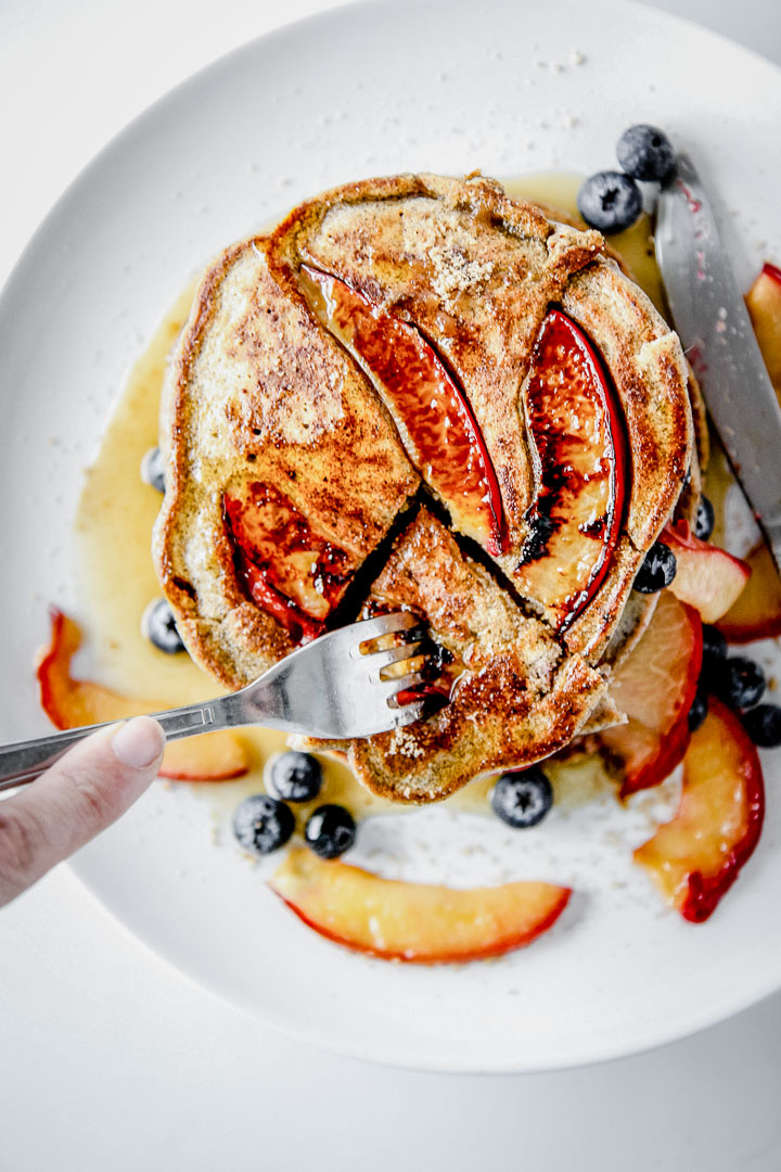 Pluot Brown Sugar Buckwheat Pancakes