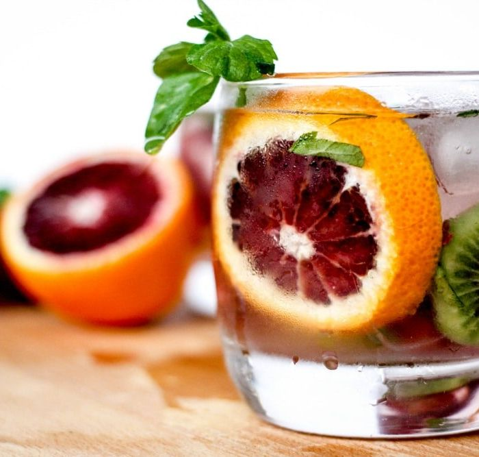Blood Orange, Kiwi & Mint Margaritas
