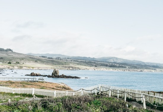 The coastline along California State Highway 1.