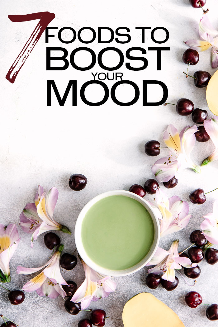 Want a happiness boost? These 7 good mood foods increase your happiness. Healthy for your body AND your mind! #happiness #food #healthyfood #joy #slowfood #slowliving #mindfulliving