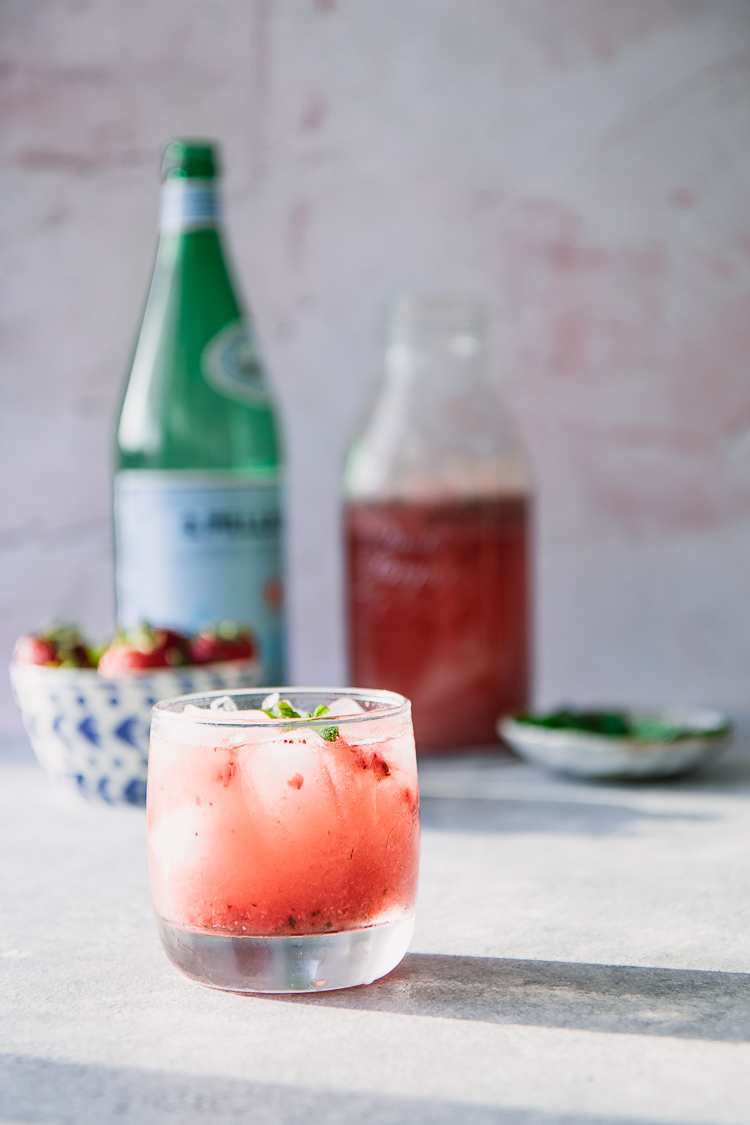 How to Make a Homemade Strawberry Mint Spritzer