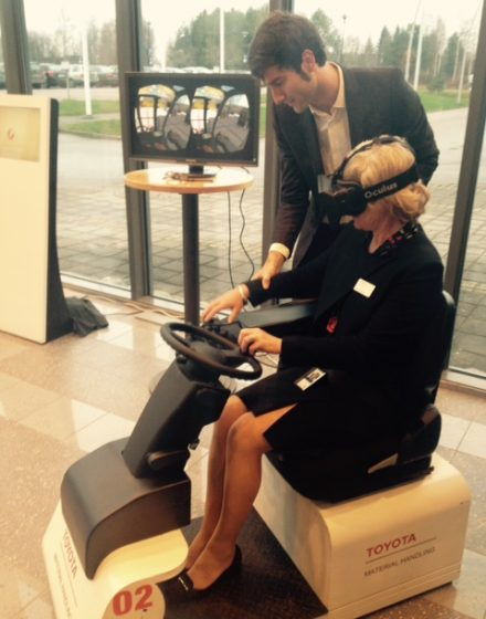 Test driving by Toyota Material Handling Europe