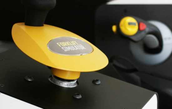 Forklift-Simulator controls close up