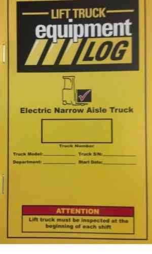lift truck equipment log