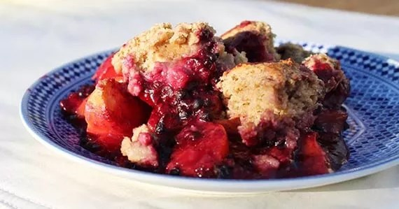 Cobbler570x299 Blackberry Peach Cobbler