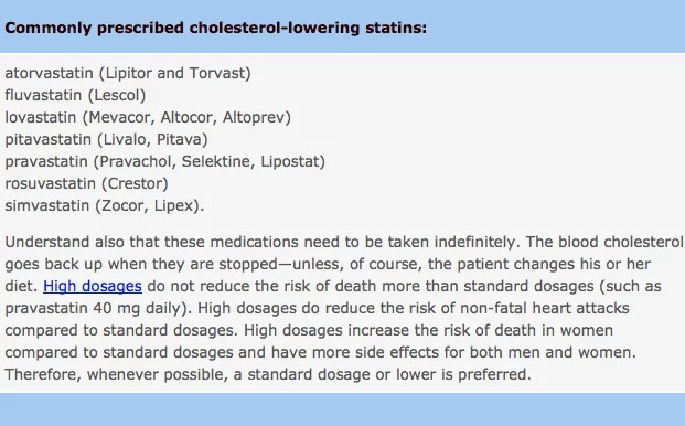 mmmmm6 Who Should Take Cholesterol lowering Statins? Everyone or No One?