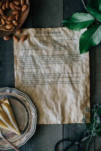 pear frangipane tart fork to belly