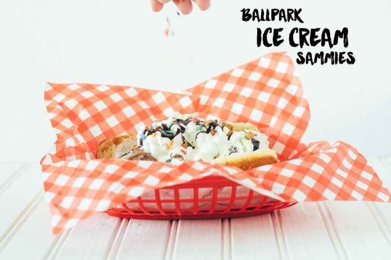 ball park ice cream sammies fork to belly
